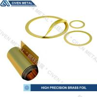 Wholesale precision brass foil used for laminated shims/wide range of thickness:0.01-0.1mm/bright golden yellow/can be customized from china suppliers