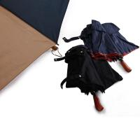 Quality 23 Inch 8 Ribs Double Layer Windproof Auto Open Folding Umbrella with Wooden Handle for sale