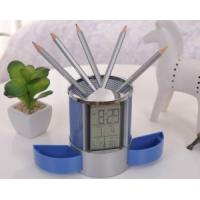 Wholesale Desktop Alarm Digital Penholder Clock with Calendar and Thermometer from china suppliers