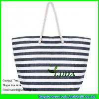 Wholesale LUDA striped women handbags fasion paper straw beach handbags from china suppliers