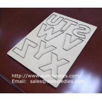 Wholesale MDF kids scrapbook steel die cutters, personalized steel rule cutter on MDF base from china suppliers