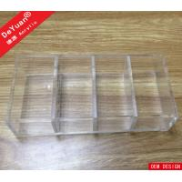 Wholesale Removable Dividers Clear Acrylic Makeup Organizer Tabletop Custom from china suppliers