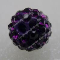 Buy cheap Amethyst Clay Shamballa Pave Beads In Size 6mm, 8mm, 10mm, 12mm from wholesalers