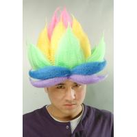 Wholesale Customed Men Colorful Crazy Synthetic Sports Soccer Fan Wigs from china suppliers