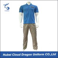 Wholesale Cool Corporate Security Uniforms For Summer , 65% Polyester 35% Cotton Materials from china suppliers