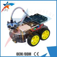 Wholesale 4WD Car Ultrasonic Line-track Obstacle Avoidance Anti-drop Smart Car Robot Kit from china suppliers