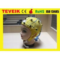 China hot sale medical EEG cap with Tin electrode 20 leads EEG hat with best price on sale