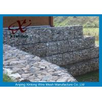 Wholesale Galfan Galvanized Gabion Box , Gabion Wall Baskets For Riverbed Garden from china suppliers