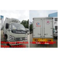 Wholesale HOT SALE! Factory sale good price forland 4*2 RHD 4tons refrigerator truck with USA CARRIER reefer for Mozambique from china suppliers