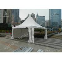 Wholesale Transparent Soft Fabric Window High Peak Tents on the Concrete Ground from china suppliers