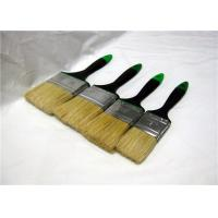 Wholesale Pure White Bristle Flat Paint Brush With Dark Blue Rubber Handle For Wall Cleaning from china suppliers