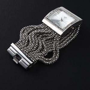 Quality High Quality Antique Silver with Crystal Rhinestone Women Girls'Lady Alloy Quartz Adjustable Wrist for sale