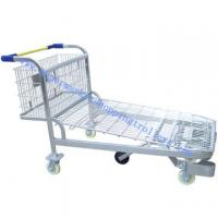 Wholesale Heavy Duty Wire Mesh Flat Warehouse Cargo Trolley Rear Basket from china suppliers