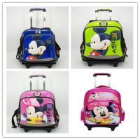 Wholesale Original Disney Mickey Mouse and Minnie Mouse Kid's School Bag Trolley Bag from china suppliers