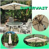 Wholesale 7.5FT Outdoor Aluminum Patio Furniture Market Umbrella for Commercial from china suppliers