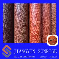 Wholesale 1-3mm Thick Leather Looking Fabric Softness Handle Ball PVC Faux Leather from china suppliers