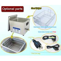 Wholesale Full SUS304 Benchtop Heating Digital Ultrasonic Cleaner 10 Liter With Basket from china suppliers