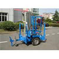 Wholesale Vertical Trailer Mounted Man Lift , Single Mast Trailer Boom Lift For Window Cleaning from china suppliers