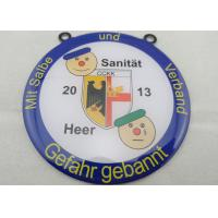 Wholesale Stainless Steel Sanitat Karneval Silk Screen Printing Medal by Gefahr Gebannt, Flat or Double Side from china suppliers