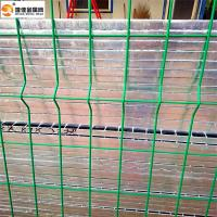 Quality Wire metal fence 4 curve 5mm wire  pvc-coated green colour fence for sale