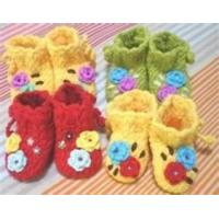 Wholesale Crochet hook lovely Hand crochet DIY baby shoes knitted baby products Indoor from china suppliers