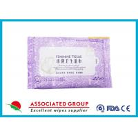 Wholesale Personal Hygiene Wet Tissue Non Irritating Feminine Wipes Healthy Unscented from china suppliers