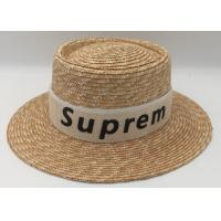 Wholesale Women Summer Beach Sun Hats Brand New Flat Top Straw Hat Men Boater Hats from china suppliers