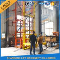 Wholesale 700kgs 4m Warehouse Elevator Lift Vertical Guide Rail Lift Vertical Cargo Lift Elevator CE TUV from china suppliers