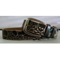Wholesale high quality cattlehide embossing skull belts for both man and woman from china suppliers