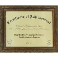 "Wholesale 11""X 8 1/2"" Opening Wooden Document Frame , Antique Golden Wood Certificate Frames from china suppliers"