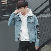 Wholesale Light Wash Fade Color Proof Men'S Casual Jean Jackets With Two Chest Pockets from china suppliers