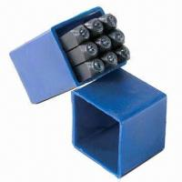 Wholesale 9-piece Number Punch Set, Made of 45# Steel from china suppliers