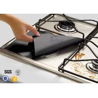 """Wholesale 4 Pack 10.6"""" x 10.6"""" Reusable Gas Range Liners Stovetop Burner Protectors , PTFE Coated Fabric from china suppliers"""