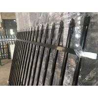 Buy cheap Australia 2.4m long Powder coated finish black Spear Pressed Fence from wholesalers