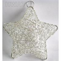 Buy cheap METAL WIRE STAR FOR HANGING, A STAR-SHAPED BOX OPENABLE HALF TO HALF,WIRE CRAFT from wholesalers