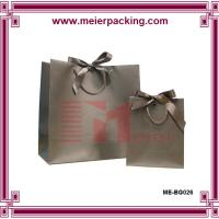 Wholesale Luxury and elegant garment stylish gift bags/Grey paper bags ME-BG026 from china suppliers