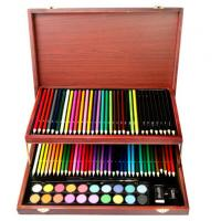 Wholesale Children Art Set, 91 pieces in a nice elegant wood box from china suppliers