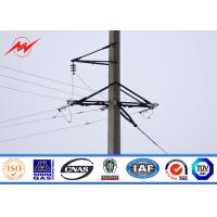 Wholesale 95FT NGCP Philippines Hot Dip Galvanization Steel Power Poles AWS D 1.1 from china suppliers