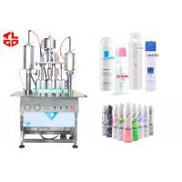Wholesale Pneumatic Body Spray Filling Machine, Semi Automatic Spray Can Filling Machine from china suppliers