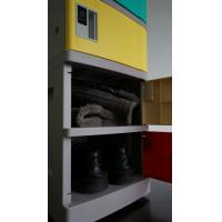Buy cheap Corrosion Proof ABS Plastic Lockers Red Door 5 Tier Lockers With Clover Keyless from wholesalers