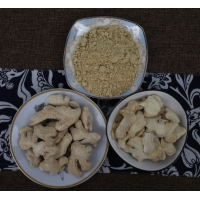 Wholesale None GMO 1000cfu/G 6-8mm Spicy Yunnan dehydrated ginger flakes high so2 from china suppliers