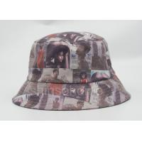 Wholesale Printint Logo Waterproof Fishing Bucket Hat 100% Cotton PU Leather Fabric from china suppliers