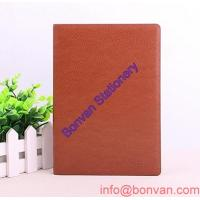 Wholesale high quality pu black diary notebook with pen & a5 leather notebook from china suppliers