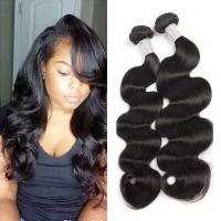Wholesale Natural Black 7A Peruvian Body Wave Virgin Hair Bundles No Terrible Smell from china suppliers