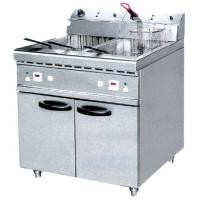 Wholesale JUSTA 40L Electric Two Tank Deep Fryer With Cabinet ZH-RCX2 Western Kitchen Equipment from china suppliers
