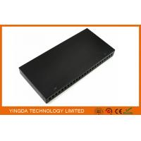 """Wholesale 19"""" 24 Port Rack Patch Panel , 24 Cores SC Simplex Adapter Panel Rack Mounting Black from china suppliers"""