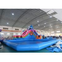 Wholesale Sea World Theme Water Park Inflatable , Inflatable Water Park with Pool and Slide from china suppliers