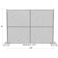 "Wholesale 8' x 10' ""Great Wall"" temporary chain link fence panels Tube 1.625"" /41.2mm  wall thick 14ga from china suppliers"