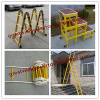 Wholesale factory Easy handing fiberglass foldable ladder,fiberglass ladders from china suppliers