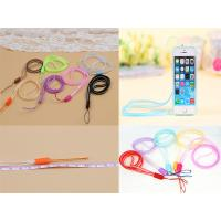 Wholesale Multi-Function  6mm Silicone Soft PVC Double Color Mobile Phone Lanyard, PVC Cellphone Lanyard from china suppliers